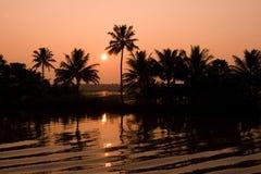 kerala solnedgång arkivbilder