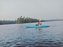 Kerala som Kayaking Royaltyfria Foton
