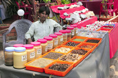 Kerala spice stall Royalty Free Stock Image