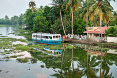 Kerala-Stauwasser Stockfotos