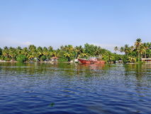 Kerala-Stauwasser Lizenzfreie Stockbilder