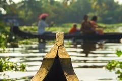 Kerala-Stauwasser-Boots-Ausflug lizenzfreies stockbild
