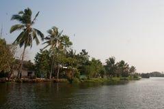 Kerala stojące wody fotografia stock
