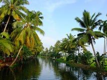 Kerala Stojące wody, India Zdjęcia Royalty Free