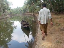 Kerala tillbaka vatten Royaltyfri Foto