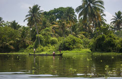 Kerala waterways and boats Royalty Free Stock Images