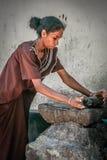 Kerala woman at work Stock Image