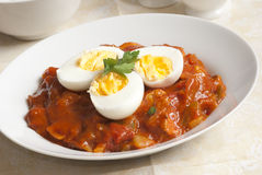 Keralan egg curry Stock Photo