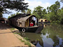 Keralan houseboat Stock Photography