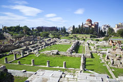 Старое кладбище в Афинах Kerameikos Греции Стоковые Изображения