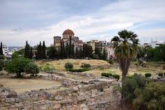 Kerameikos cemetery. The church inside the ancient Kerameikos cemetery Stock Image