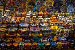 Keramik auf türkischem Markt Lizenzfreies Stockfoto