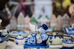 Keramik Delftse Blauwe stockfotos