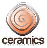 Keramik-oder Tonwaren-Logo Lizenzfreie Stockbilder