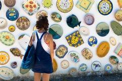 Keramik in Portugal lizenzfreies stockfoto