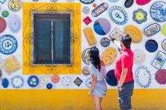 Keramik in Portugal lizenzfreie stockfotos