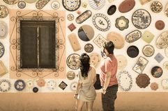 Keramik in Portugal lizenzfreies stockbild
