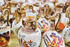 keramik shoppar souvenir Royaltyfri Foto