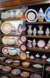 Keramik som är till salu i shoppa, Istanbul 01 Arkivfoton