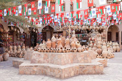 Keramik souk in Nizwa, Oman Stockbilder