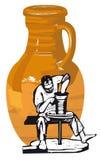 keramiker royaltyfri illustrationer