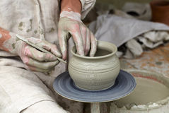 Keramiker händer. Royaltyfri Bild