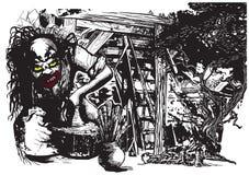 Keramiker skapare, clown - vektorfrihandsillustration royaltyfri illustrationer