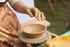 Keramiker som är klar att fungera royaltyfri bild