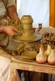 keramikerarbete Arkivfoto
