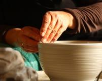 keramikerarbete Arkivbilder