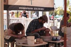 Keramikerformlera på ett hjul Royaltyfria Foton