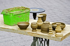 Keramikers hjul Royaltyfri Foto