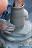 Keramikers vända för hjul Arkivfoton