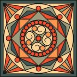 Keramikfliesen in den Retro- Farben Weinlesemuster Auch im corel abgehobenen Betrag Lizenzfreie Stockfotografie