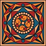 Keramikfliesen in den Retro- Farben Weinlesemuster Auch im corel abgehobenen Betrag Stockbilder