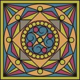 Keramikfliesen in den Retro- Farben Weinlesemuster Auch im corel abgehobenen Betrag Stockfoto