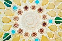 Keramikziegel-Wanddekoration der Weinlese Lizenzfreie Stockfotos
