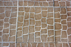 Keramikziegelfußboden- oder -wandbeschaffenheit Stockfotografie