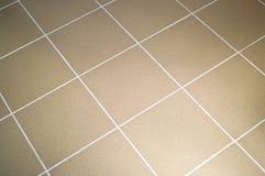 Keramikziegelfußbodenbraunfarbe Stockfotografie