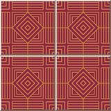 Keramikziegelmuster Quadrat-Kontrollachteck-Spiralen-Feld-Linie Stockbild