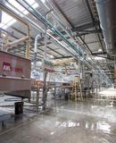 KeramikziegelProduktionsanlage stockbild