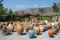 Keramische Amphoras lizenzfreie stockfotos