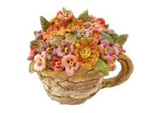 Keramische Blumen stockbilder