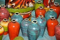 Blumen-Vasen und Flaschen Lizenzfreie Stockbilder
