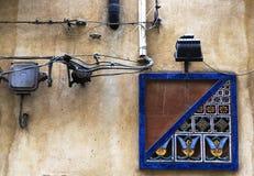 Keramische Dekoration in Sizilien Stockfotos