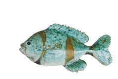 Keramische Fische w/path Lizenzfreie Stockfotos