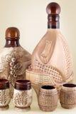 Keramische Flasche Stockfotos