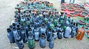 Verschiedene Blumen-Vasen und Flaschen Lizenzfreie Stockfotografie