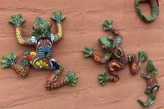 Keramische Frösche Guanajuato Mexiko Stockbild