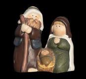 Keramische Geburt Christi Weihnachtsverzierung Stockfoto